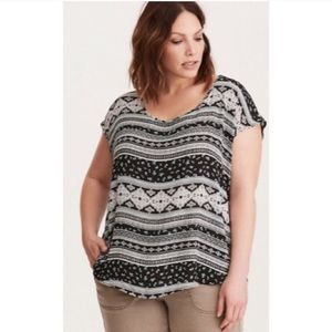 Torrid Button-Back Print Blouse